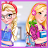 Elsa&Rapunzel College girls logo