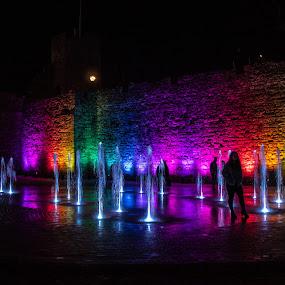 Southampton Light Festival by Bradley Foot - City,  Street & Park  Night ( reflections, city, festival, night, southampton, water, lights, canon,  )