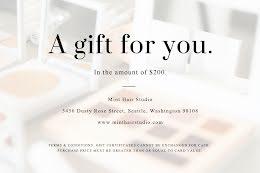 Mint Hair Studio Light - Gift Certificate item