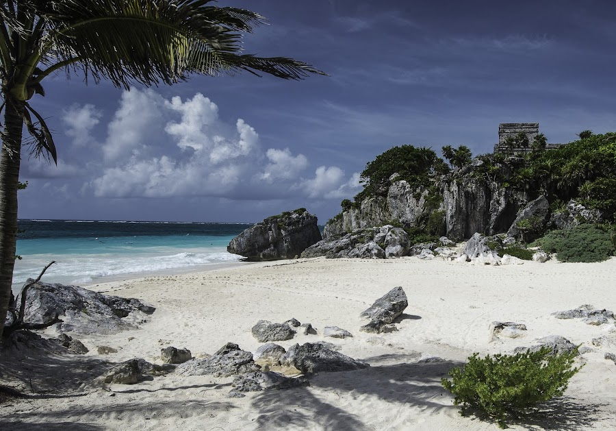 Tulum by Jim Keating - Landscapes Beaches ( temple, tranquil, sand, relax, mexico, sea, tranquility, beach, relaxing, mayan,  )