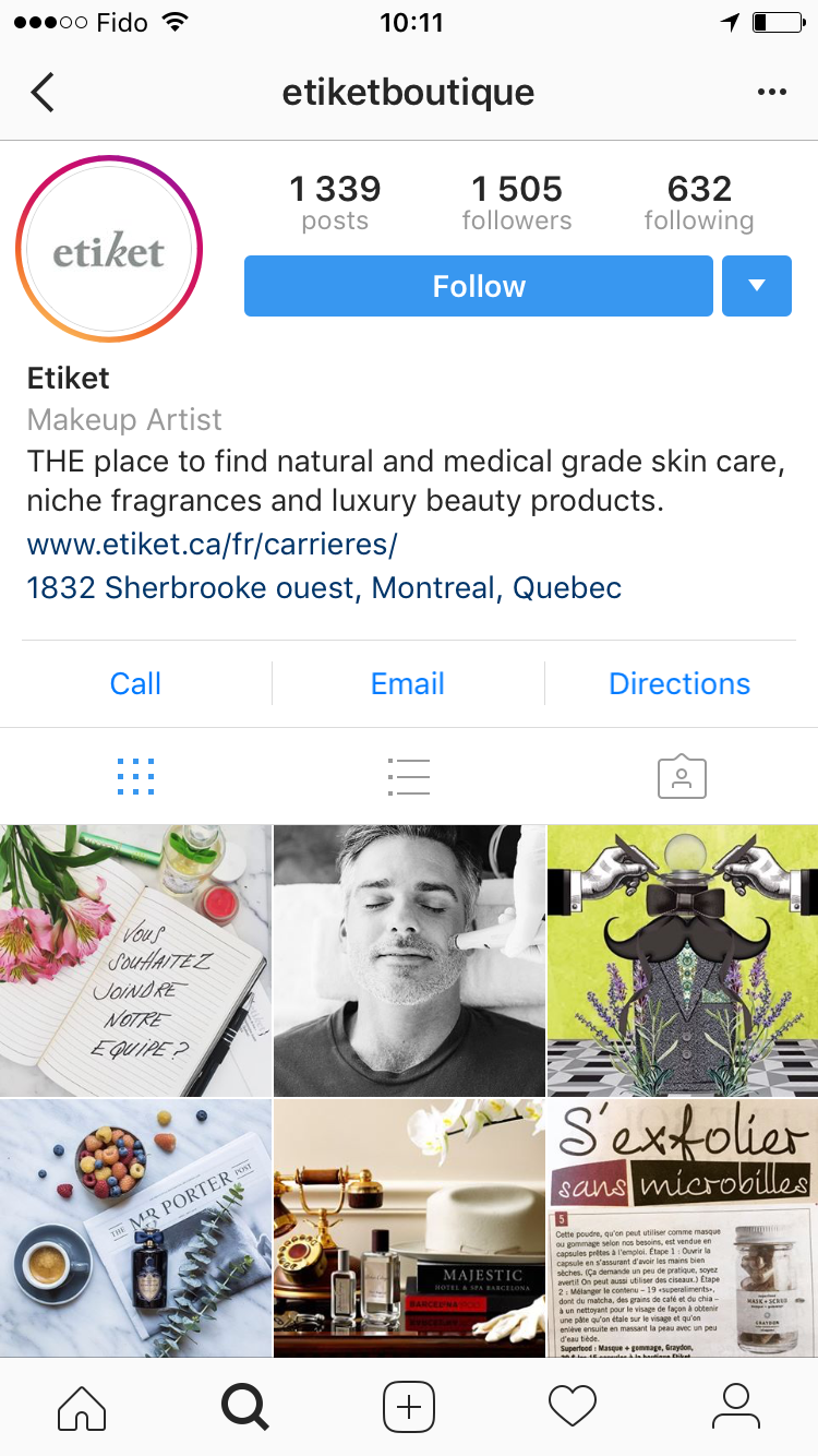 etiket instagram account