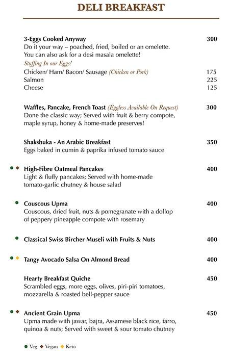 Indigo Delicatessen menu 2