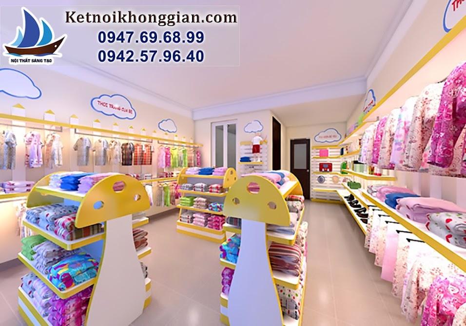thiết kế cửa hàng quần áo trẻ em trọn gói hàng đầu việt nam