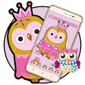 Sweet Pink Cartoon Owl Theme icon
