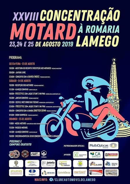 Programa da XXVIII Concentração Motard à Romaria – Lamego – 2019