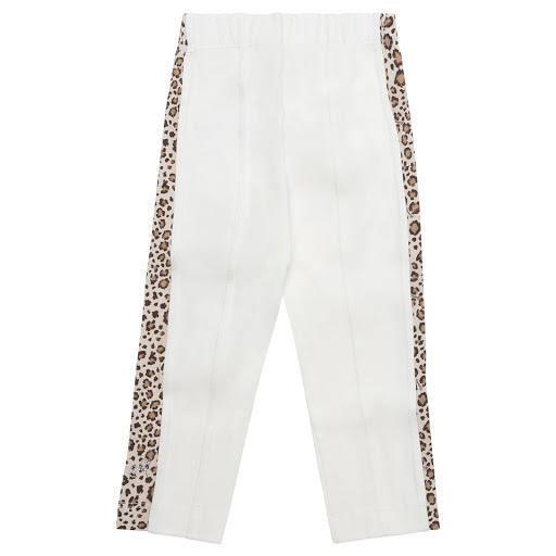 Thumbnail images of Monnalisa Ivory Animal Print Leggings