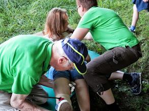 Photo: Patientin ablegen