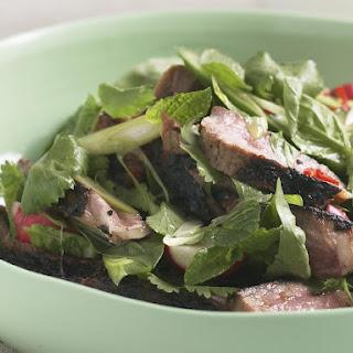Beef Salad with Radish and Herbs.