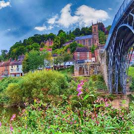 Bridge up close by Simon Alun Hark - Novices Only Landscapes ( water, severn, england, ironbridge, telford, river )