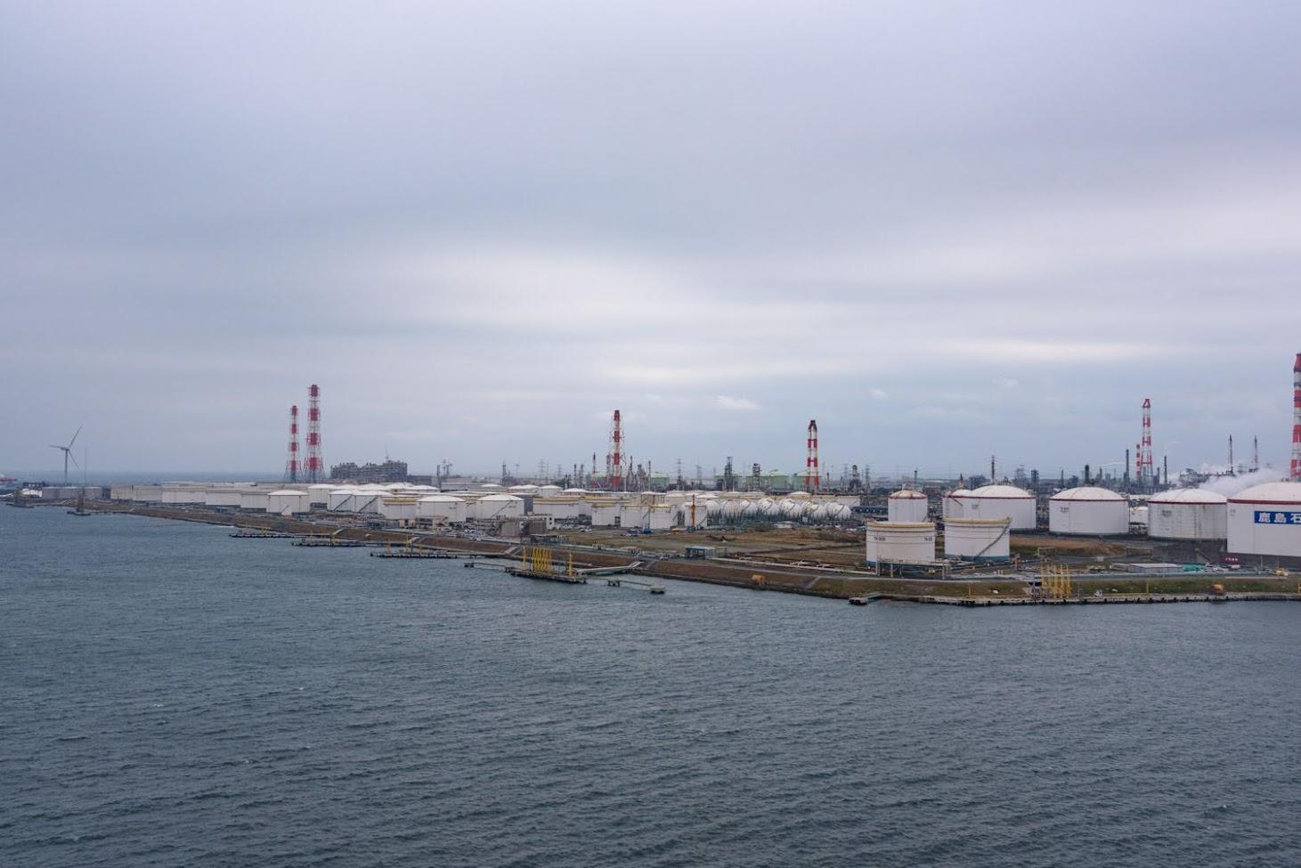 【旅7日目】神栖市の港公園から鹿島港を望む展望台へ!夜にはトラブルが…
