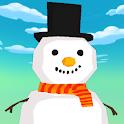 Sliding Frozen Snowman - casual 2D platformer game icon