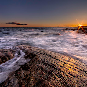 Windy sunset by Bent Velling - Landscapes Sunsets & Sunrises ( sigma 12-24, windy, sunset, canon 5d mkii, norway )