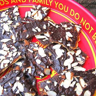 Chocolate Covered Caramel Matzoh Crack