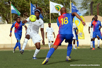 Photo: Mohamed 'Poborsky' Bangura [vs. Cape Verde, June 2013 (Pic: Darren McKinstry)]