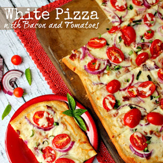 White Pizza with Bacon and Tomatoes