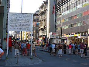 Photo: checkpoint charlie sign
