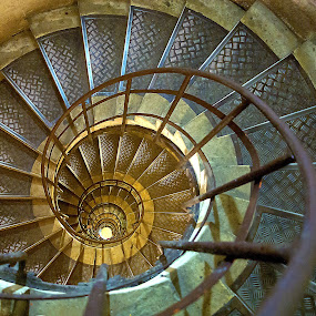 Spiral Staircase by Kwoh LK - Buildings & Architecture Other Interior ( paris, spiral staircase, arc de triomphe, arch de triomphe )