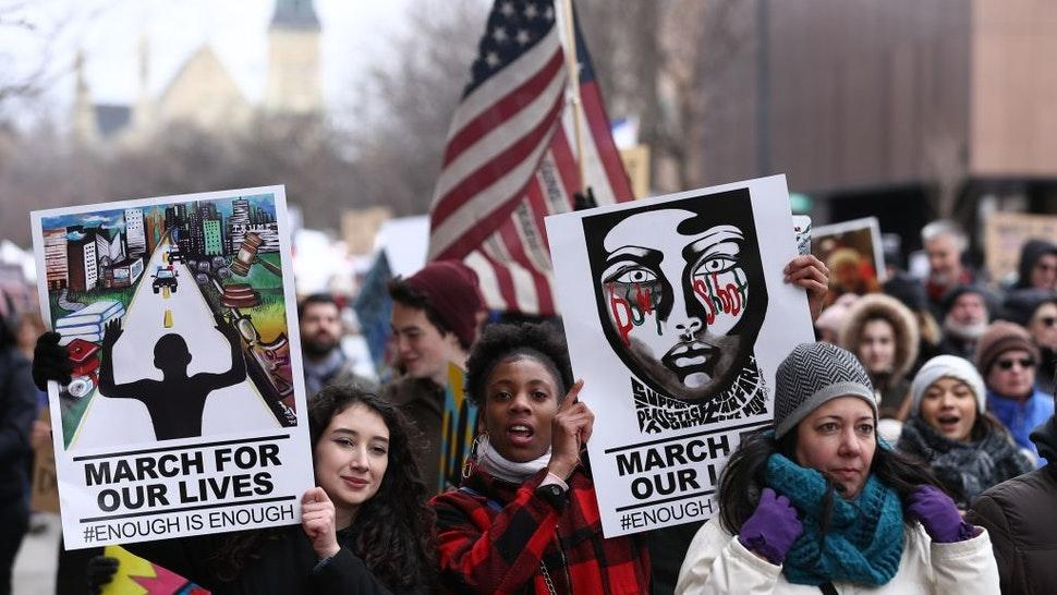 """""""March For Our Lives"""" Protest in Chicago"""