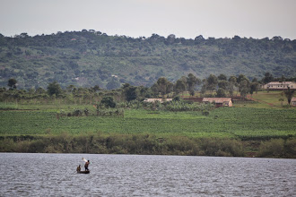 Photo: Lake Victoria, near the source of the Nile
