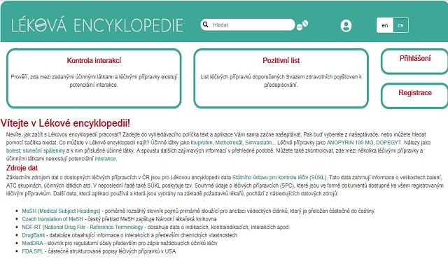 Léková encyclopedie - medikace