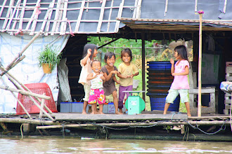 Photo: Year 2 Day 41 -  Laughing Children in the Floating Village