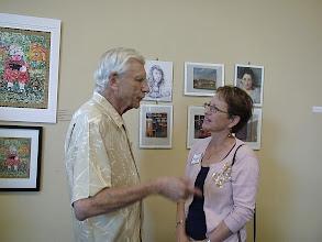 Photo: Leslie Sher and Margaret Blume / 4-21-13 Les & Sydelle Art exhibit at Weissman Ctr