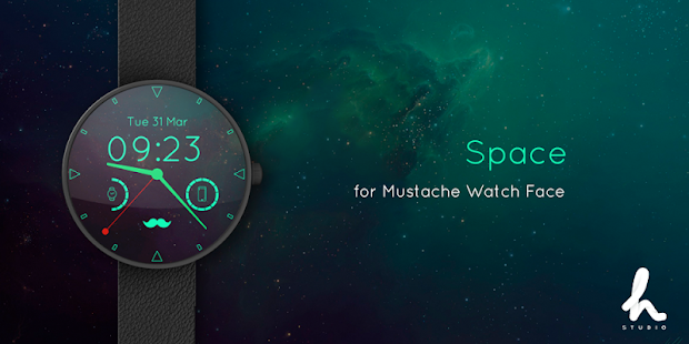 Mustache Watch Face Screenshot