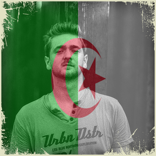 Algeria Flag On Face Maker : Photo Editor