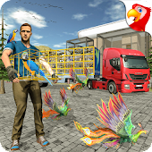 Birds Transport Truck Simulator -Cage Truck Driver