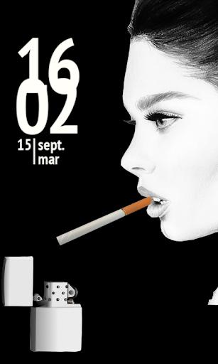 Girl Smoking Cigarette Lock