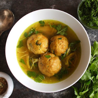 Yemenite-Style Matzo Ball Soup.
