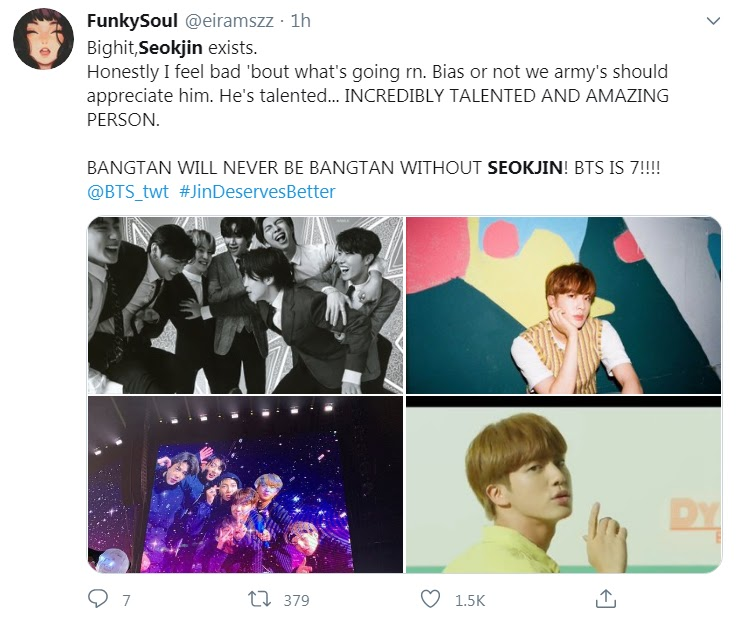 Jin Was Left Out Of The Dynamite Remix Fans Respond With Bts Is 7