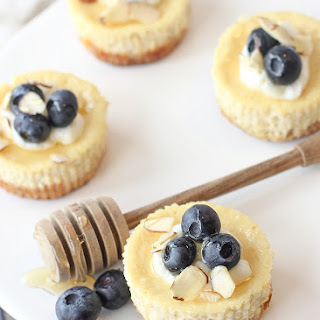 Mini Greek Yogurt Cheesecakes with Blueberries and Honey Recipe