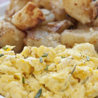 Scrambled Eggs with Potatoes and Onions.