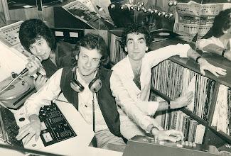 Photo: DJ's Louis Kee, Andrew Bull and Steve Beaver. PR shot for Taipan Club Furama Hotel, Hong Kong 1979. [Note SOUNDSWEEP installed!]
