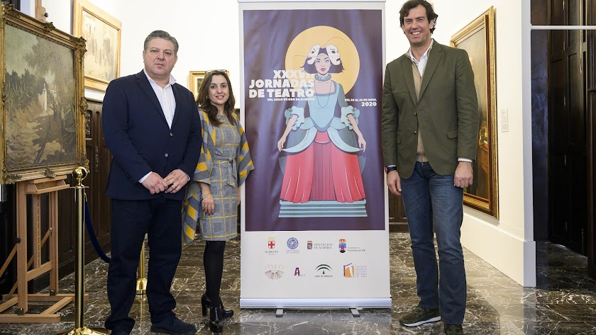 Presentación del cartel de las Jornadas del Siglo de Oro, ayer en el Museo Doña Pakyta.