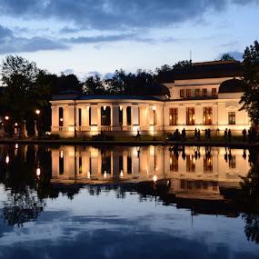 Casino, Cluj by Andrei Diana - City,  Street & Park  City Parks ( water, reflection, park, night lights, casino, cluj )