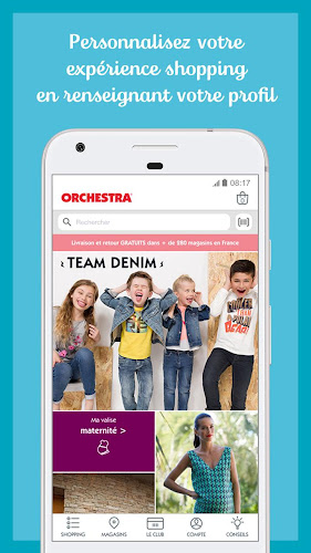 ORCHESTRA mode et puériculture Android App Screenshot