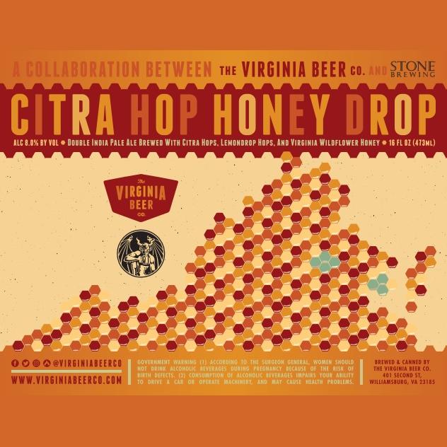Logo of Virginia Beer Co. / Stone Brewing Citra Hop Honey Drop