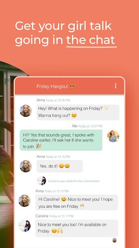 GoFrendly: u00a0Encuentra, conoce y haz amigos, ¡solo mujeres! capturas de pantalla 4