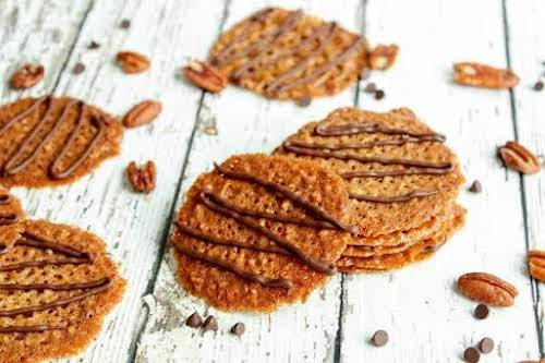 "Click Here for Recipe: Pecan Florentines ""Light, crispy, wonderful!!!! Starts out like..."