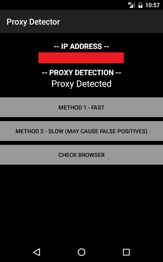 Proxy Detector- screenshot