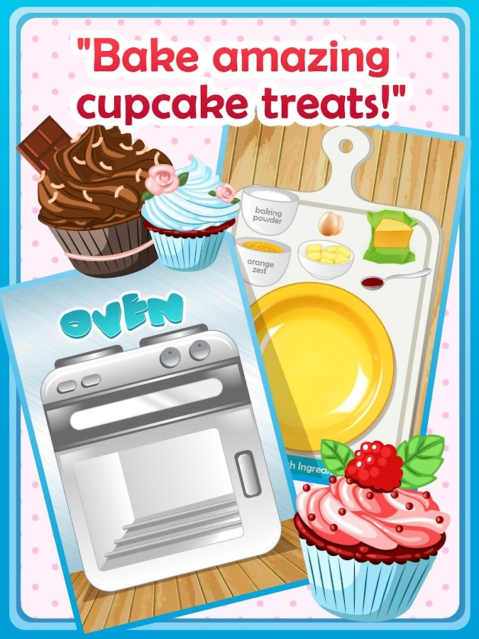 Cupcake Maker & Bake Game Free- screenshot