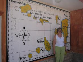 Photo: Kap Verden saarten kartta - ja Pirkko