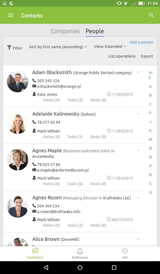 Livespace - Sales CRM- screenshot
