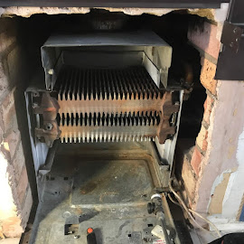 Removed old back boiler in Shipston on Stour - Warwickshire