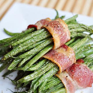 Bacon Green Bean Bundles with Brown Sugar Glaze.