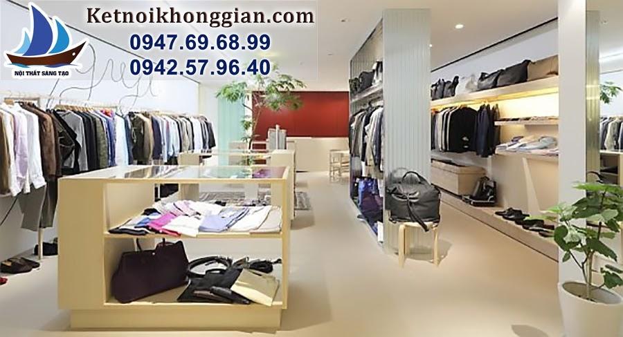thiết kế cửa hàng quần áo nam