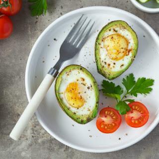 Easy Baked Egg and Avocado Breakfast.