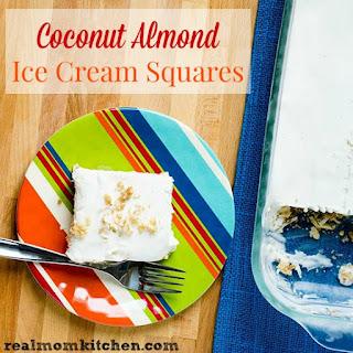 Coconut Almond Ice Cream Squares